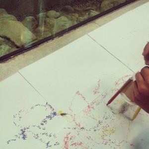 Le scribbling machines nella sala archeologica dell'Università